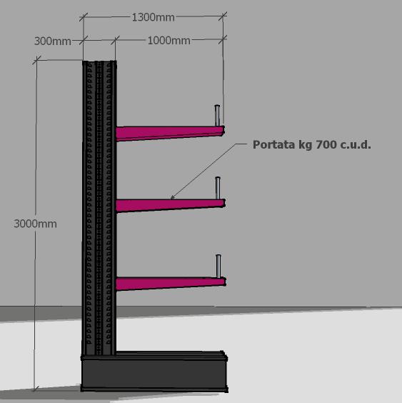 Scaffalature Cantilever Prezzi.Tecnostrutture Scaffalatura Cantilever Per Magazzini Depositi