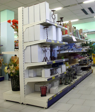 Scaffali A Gondola Usati.Scaffali Self Service Scaffali Supermercato Scaffalature Negozi